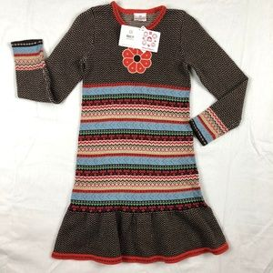 Hanna Andersson Girls Striped Sweater Dress